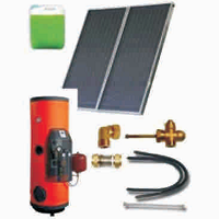 Solar sets of flat collectors with integrated solar tank (220 53 300)