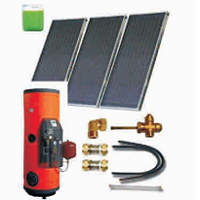 Solar sets of flat collectors with integrated solar tank (120 06 300)