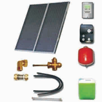 Solar sets of flat collectors with integrated solar tank (100 04 000)