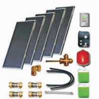Solar sets of flat collectors with integrated solar tank (100 10 000)