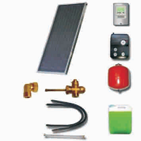 Solar sets of flat collectors with integrated solar tank (200 26 000)