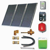 Solar sets of flat collectors with integrated solar tank (200 80 000)