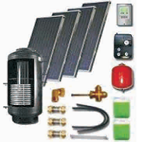 Solar sets of flat collectors with integrated solar tank (300 11 500)