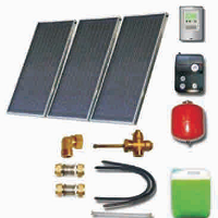 Solar sets with meander collectors with aluminium absorbers and solar heaters (110 06 000)