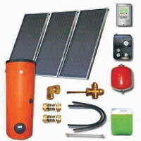 Solar sets with meander collectors with aluminium absorbers and solar heaters (110 06 300)